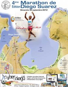 Affiche du marathon de Diego-Suarez 2012, Madagascar