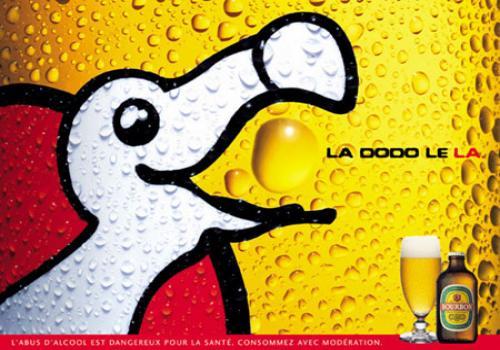 La Dodo, famous beer of Reunion Island (source : site de la Brasserie Bourbon)