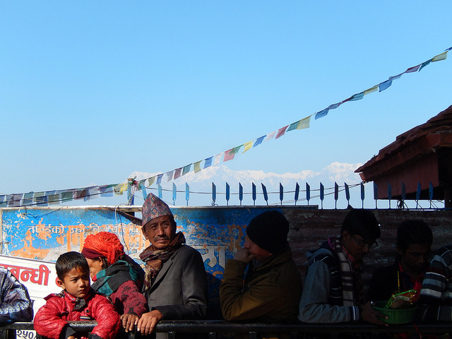 Vu magnifique sur l'Himalaya dans le cadre enchanteur de Makamana © O.B