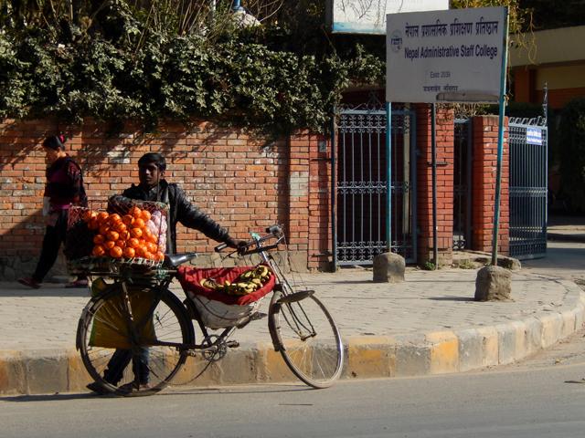 Marchand ambulant de fruits à Ekantakuna © S.H