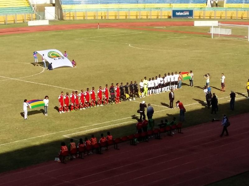 Maurice en rouge, Ghana en blanc : le 5 juin 2016 au Stade Anjalay © S.H