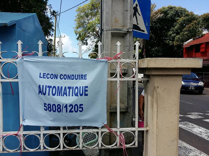 Annonce de leçon de conduite avec voiture automatique à Poste de Flacq © SH